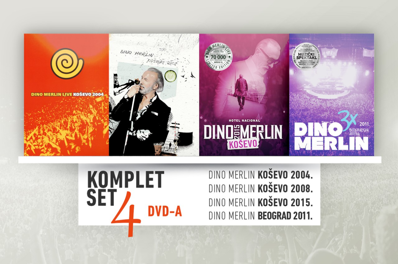 LIVE DVD COLLECTION (4 DVD KOMPLET)